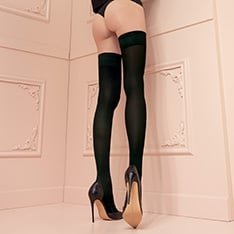 Miranda 70 denier microfibre thigh highs