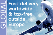 Fast global delivery and tax-free outside Europe