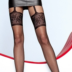 Muriel mock suspender pantyhose - END OF LINE - SAVE 34%