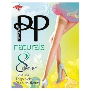Pretty Polly Naturals 8 Denier Thigh Highs