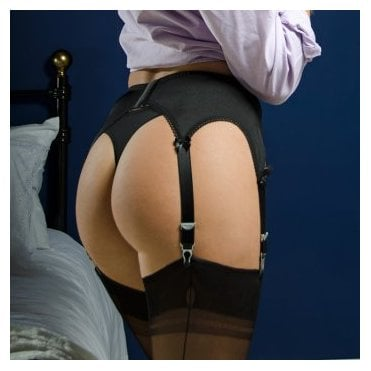 Stockings HQ NEW Classic 6-strap lace front garter belt