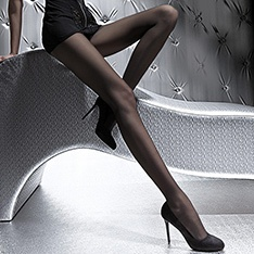 Nina 40 denier slight sheen semi-opaque pantyhose