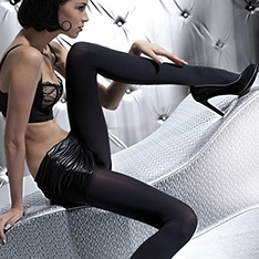Olga 100 denier opaque microfiber tights