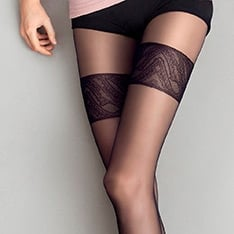 Orient Excess faux thigh high pantyhose