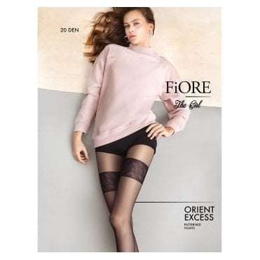 Fiore Orient Excess faux thigh high pantyhose