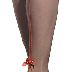 Papillion backseam bow microtulle thigh highs - LIMITED EDITION