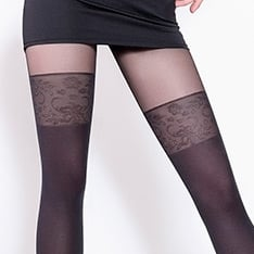 Pari model 19 faux thigh high pantyhose