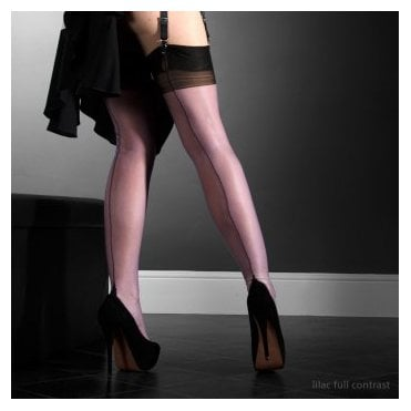 Eleganti Point heel FF stockings -  - FULL CONTRAST - SECONDS