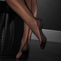 point heel FF stockings - PLAIN COLOR - SECONDS