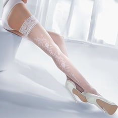 Princessa Calze 06 floral thigh highs