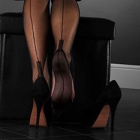 Cuban heel FF stockings - PLAIN COLOR - SECONDS