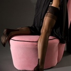 Cuban heel FF stockings - CONTRAST SEAM - SECONDS