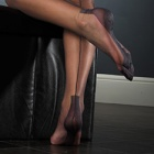 Havana heel FF stockings - PLAIN COLOR - SECONDS