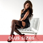 Linea Classica sheer 15 plus size stockings plus size