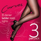 Curves Superfit ladder resist pantyhose