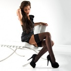 Linea Classica sheer 15 lace top thigh highs