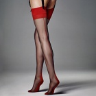 Calze Leticia 6 denier contrast seam stockings