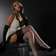 RHT nylon stockings - FULL CONTRAST - SECONDS