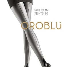 Riga seamed pantyhose with pyramid heel