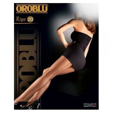 Oroblu Riga seamed pantyhose with pyramid heel