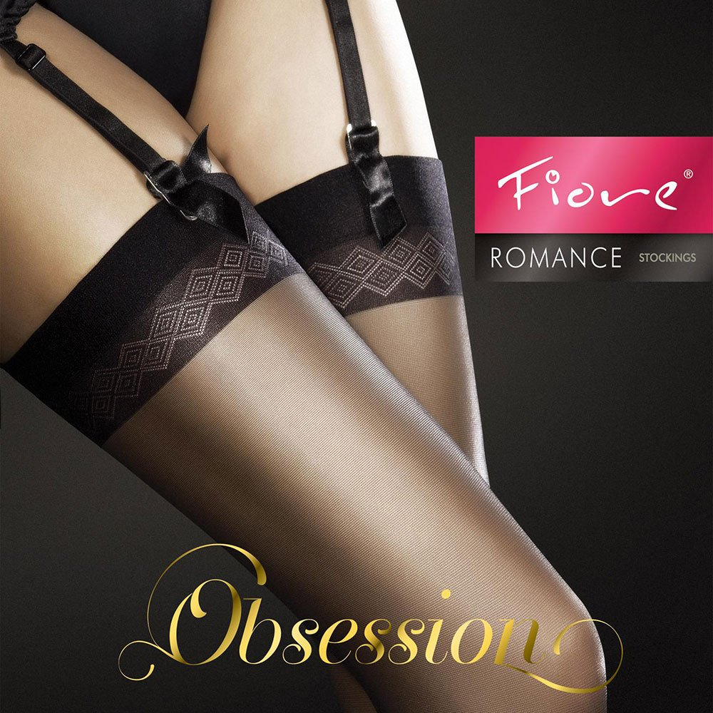 Fiore Romance 20 denier matte stockings with detailed top bands