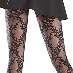 Rosemary lace effect pantyhose