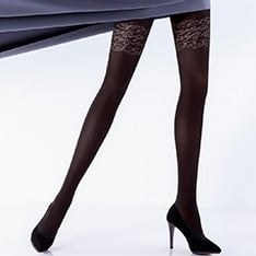 Rufina model 10 opaque pantyhose
