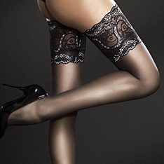 Sandrine lace top thigh highs