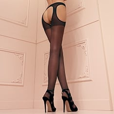Scandal sheer garter pantyhose