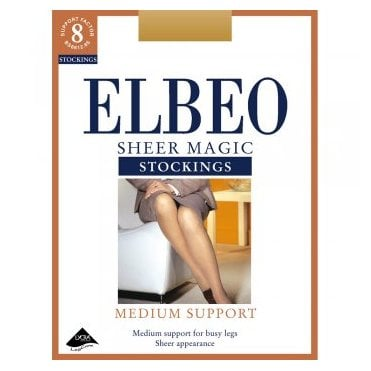 Elbeo Sheer Magic factor 8 medium support stockings