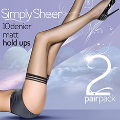 Simply Sheer 10 denier thigh highs - 2 pair pack