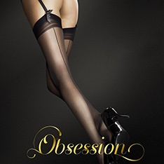 Special Offer - Marlena seamed stockings with concentric top band - Damaged Packaging