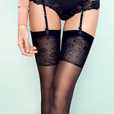 Spring Date floral top stockings
