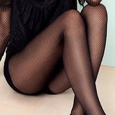 Supernatural diamond pattern pantyhose