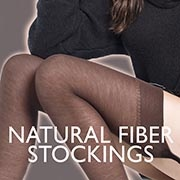Natural fiber stockings
