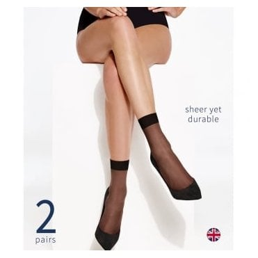 Charnos Trouserwear sheer ankle highs - 2 pair pack
