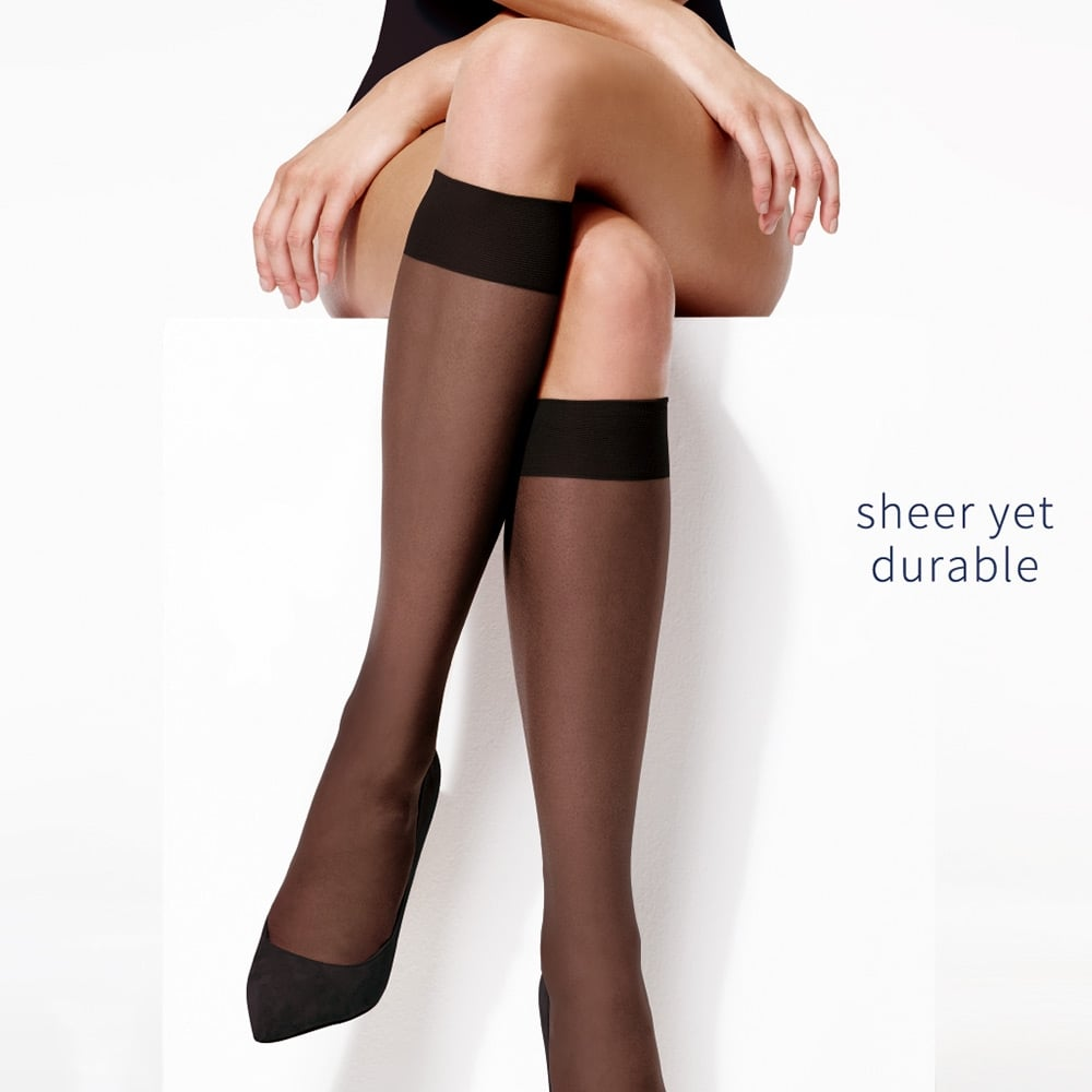 Charnos Trouserwear sheer knee highs - 5 pair pack