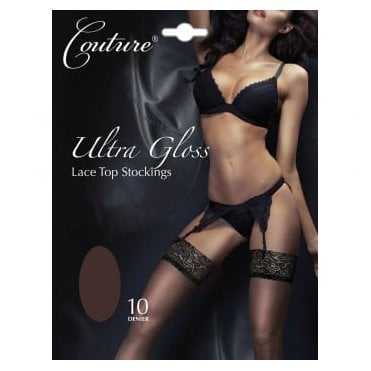 Couture Ultra Gloss lace top stockings