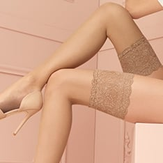 Voile 8 denier ultra-sheer thigh highs