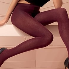 Wilma cotton opaque tights