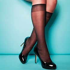 XeLence 15 denier comfort top sheer knee highs